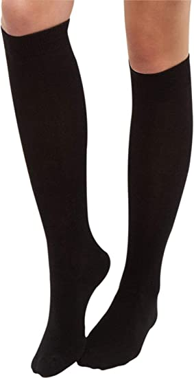 Overdose/® Ladies Black Thermal Knee High Socks Tights Leg Warmers Winter 200Denier Thick