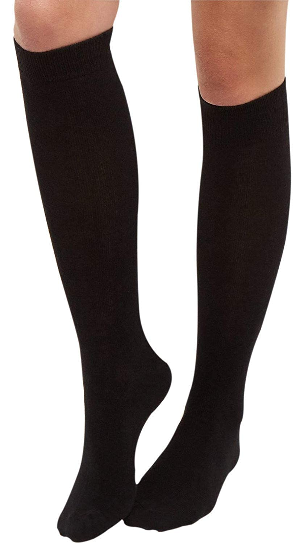 9ec8bdb6106 Overdose® Ladies Black Thermal Knee High Socks Tights Leg Warmers Winter  200Denier Thick  Amazon.co.uk  Clothing