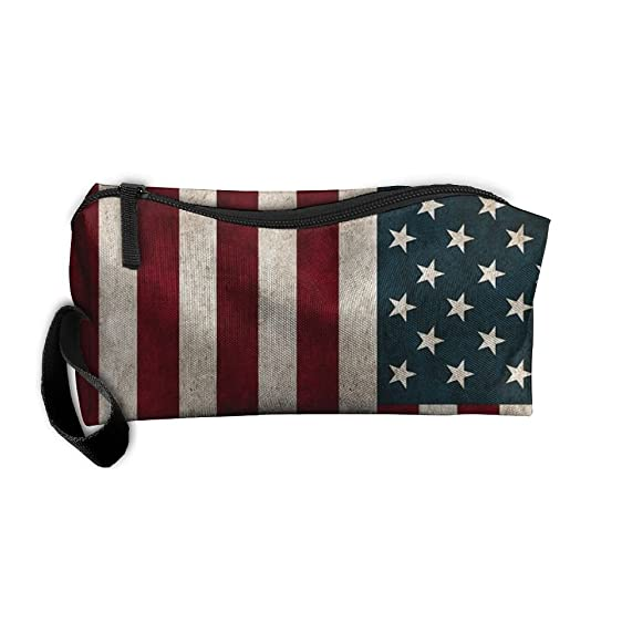 Cosmetic Bag American Flag Toiletry Bag Portable Makeup Pouch Travel Hanging Organizer Bag Storage Bag  sc 1 st  Amazon.com & Amazon.com: Cosmetic Bag American Flag Toiletry Bag Portable Makeup ...