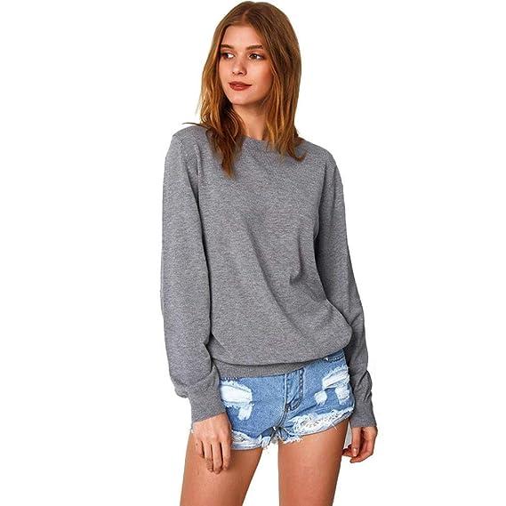 MEIbax Casual Mujer Mujeres Lindas Impresas Casual Manga Larga Camisa Blusa Tops Camiseta Camiseta Jersey con Capucha suéter Blusa: Amazon.es: Ropa y ...