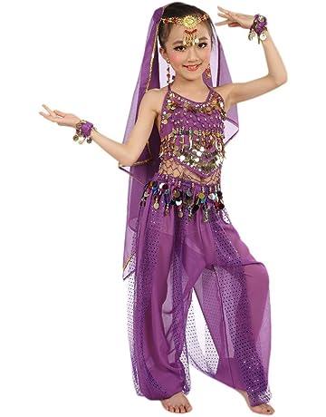 SMACO Costume da Ballo di Carnevale Jazz per Ragazze Costume da Ballo per Bambini Latino Moderno Vestito da Ballo per Bambini Vestito da Ballo per Bambini Indossare Abiti per Ragazze