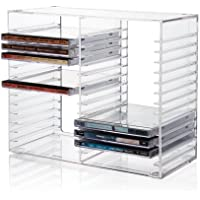 Ordinaire Stackable Clear Plastic CD Holder   Holds 30 Standard CD Jewel Cases