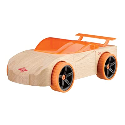 Automoblox Collectible Wood Toy Cars and Trucks—Mini C12 Cipher Sportscar (Compatible with other Mini and Micro Series Vehicles): Toys & Games