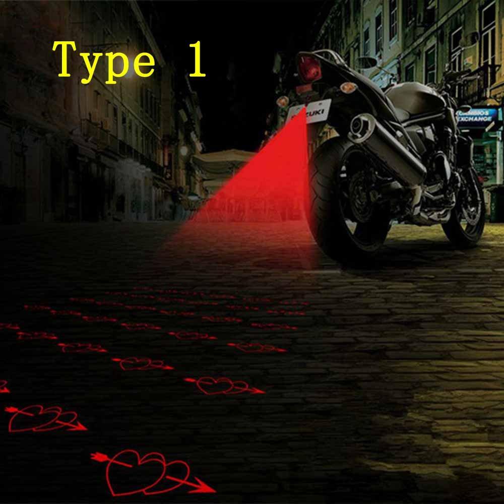 VT BigHome Anti-collision Moto LED Tail Warning Light Laser Fog Lamp Motorcycle Taillight Anti-fog Parking Stop Brake Light Driving Safety