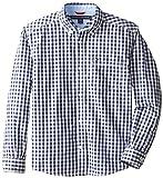 Tommy Hilfiger Big Boys' Long Sleeve Baxter Shirt, Flag Blue, Large