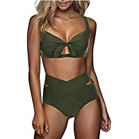 FeelinGirl Bikini Set Damen Sexy Bademode Push Up Bikinis Badeanzug Zweiteiler Strand Swimwear Swimsuits Beachwear