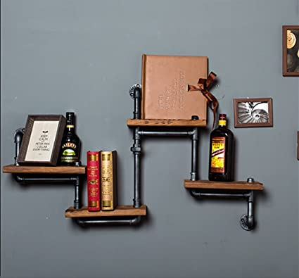 Estanterías Bar decoración de la pared de la parrilla ...
