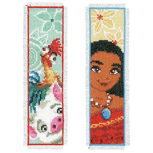 Vervaco Disney Moana Bookmark Counted Cross Stitch Kit