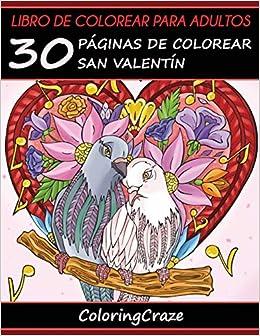 Libro de Colorear para Adultos: 30 Páginas de Colorear San ...