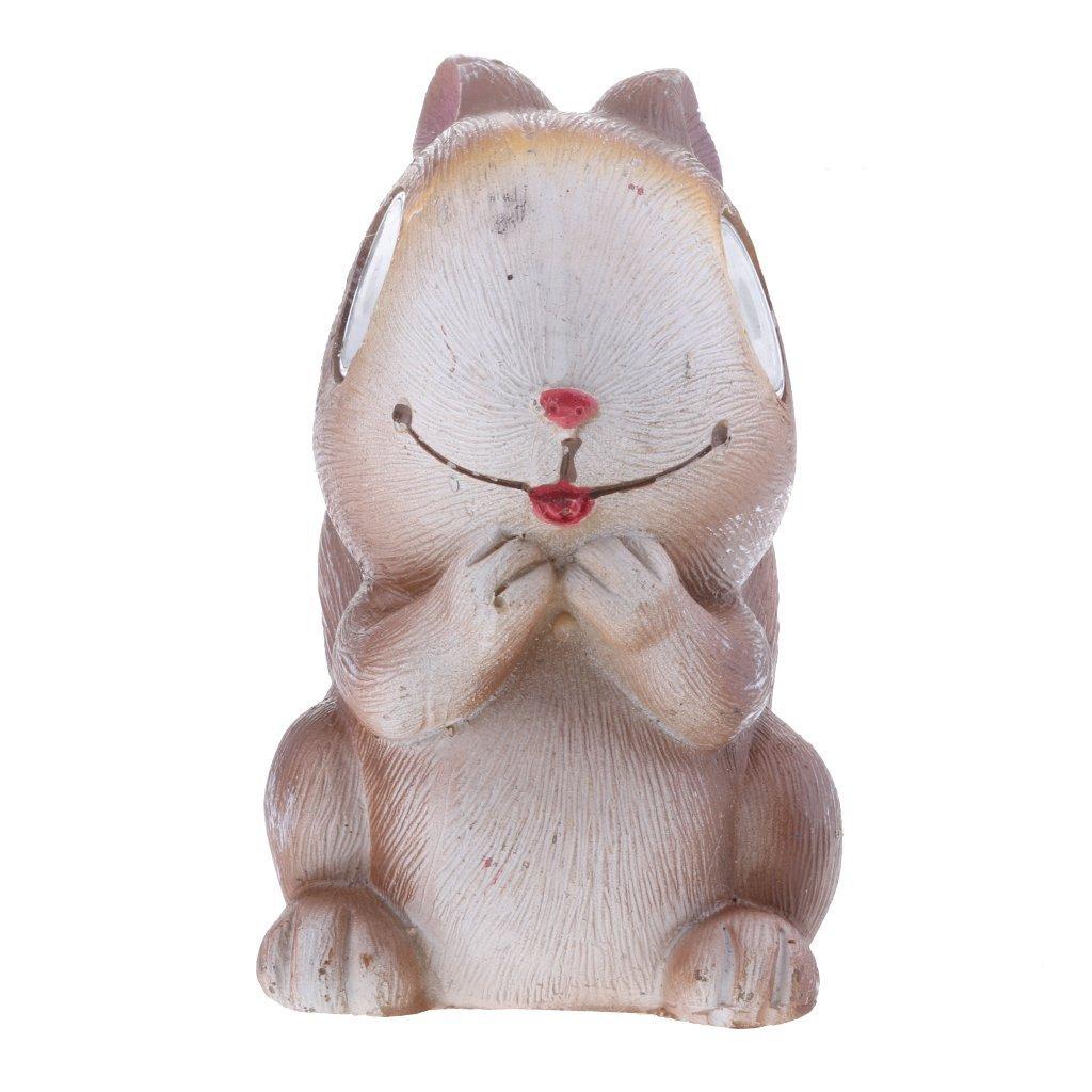 Flameer Solar Light LED Pet Animal Garden Ornaments Animal Figurine Outdoor Decoration - Squirrel