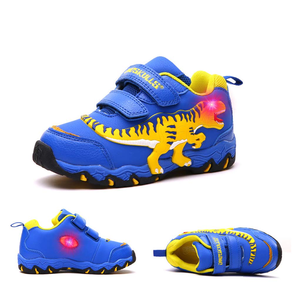 Boy Sneakers Light Up Shoes 3D T-Rex Dinosaur LED Shoes Flashing Children Sneaker