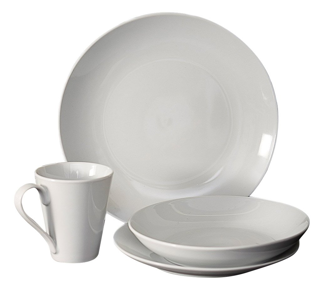 Flato Deep Curve Appetizer 4 Pc Bowl Set, White 500000012