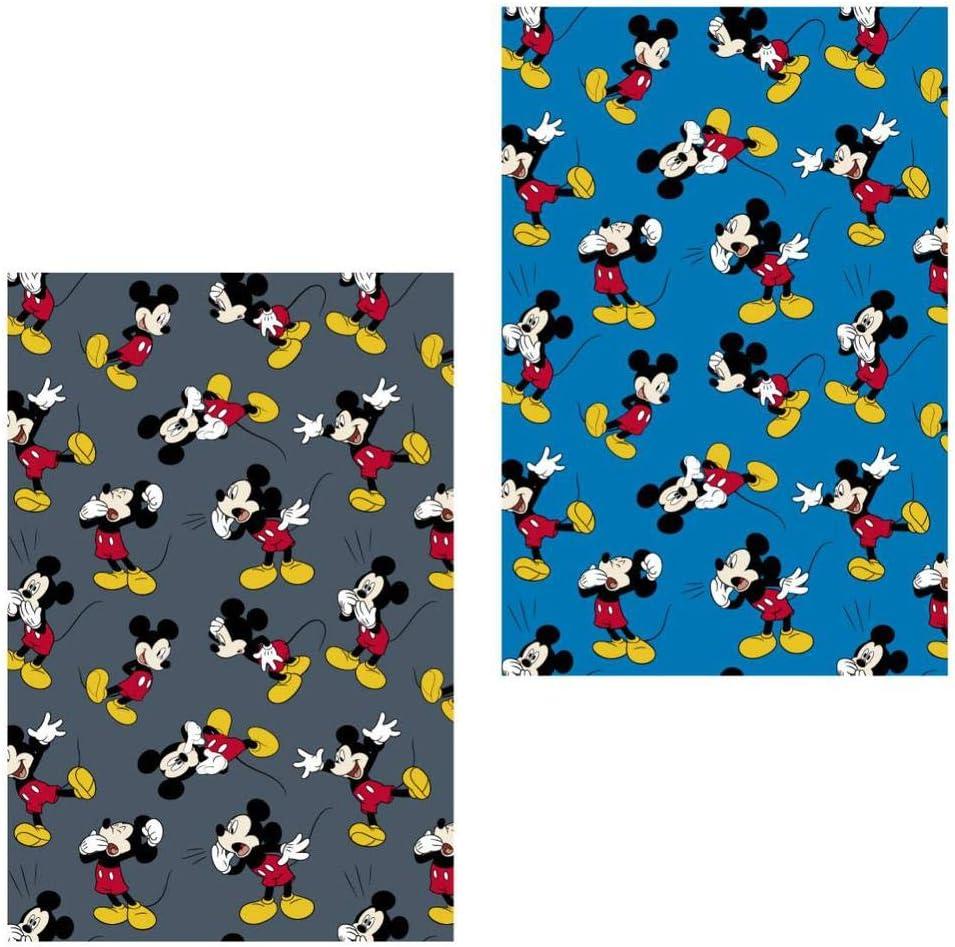Mickey Mouse Manta Calidad Franela Premium, Multicolor, 120x160