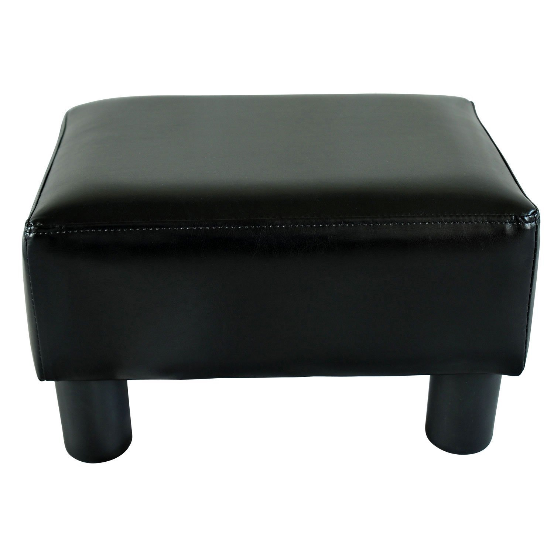amazoncom homcom modern small faux leather ottoman  footrest  - amazoncom homcom modern small faux leather ottoman  footrest stool black kitchen  dining