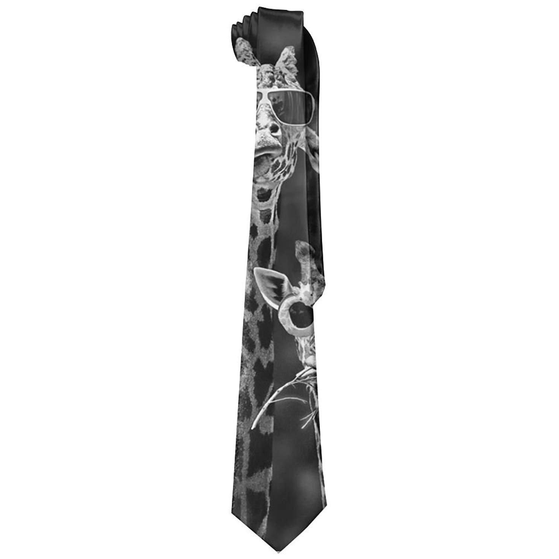 Giraffes Sunglasses Men's Tie Fashion Neckties Necktie Neckwear Neckcloth Choker Neck