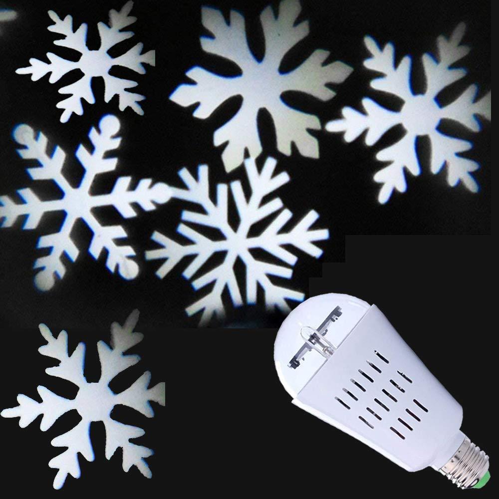 Jenabom 4W 85-265V E27 LED Schneeflocke Auto Rotierenden Led Licht Birne Geeignet fü r Hä user, Hochzeit, Partys, Valentinstag