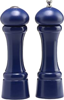 product image for Chef Specialties 8 Inch Windsor Pepper Mill and Salt Shaker Set - Cobalt Blue