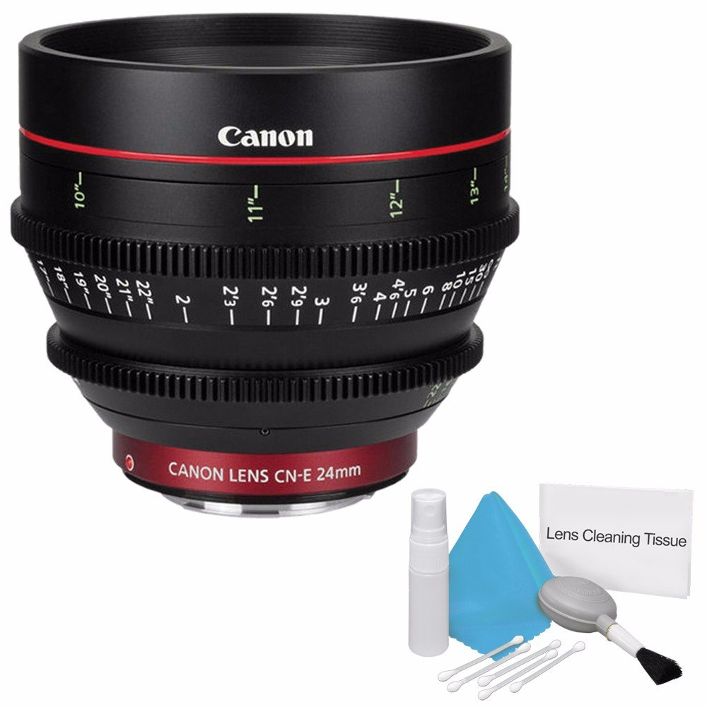 Canon cn-e 24 mm t1.5 L F Cineレンズ(インターナショナルモデル保証なし) +デラックスクリーニングキット6 Aveバンドル1   B01CDIMPOA
