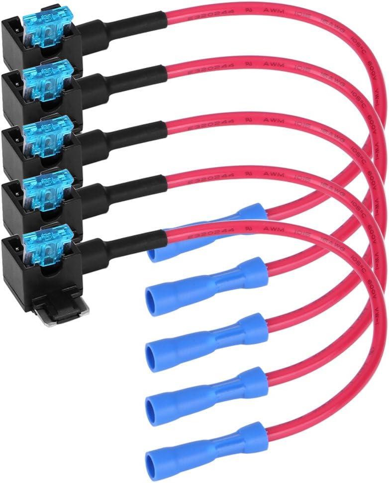 Keenso Auto Blade Sicherung Sicherung Adapter 5 Set Micro Mini Mini Standard Auto Blade Sicherung 15a Sicherungsadapter Für Bestehenden Schaltungsschutz Micro Mini Auto