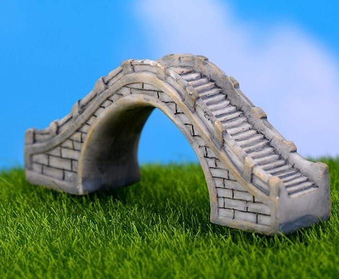 Rcdxing Puente de hada para jardín (tamaño pequeño), color gris: Amazon.es: Hogar