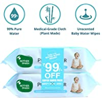 Mother Sparsh 99% Water Wipes (72 Unscented Baby Wipes, Pack of 2 - Super Saver Pack) - Super Thick Fabric