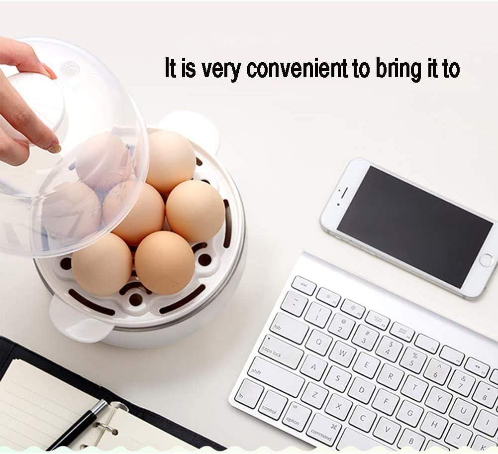 ZYLBDNB Eierkocher Wilder Elektrokocher Mit Dampfbefestigung FüR Perfekte Weiche Und Hartgekochte Eier,White White