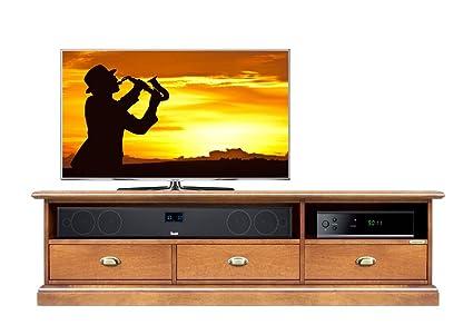 Arteferretto Mueble de TV bajo 3 cajones, Mueble TV en ...
