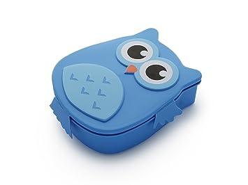 Kumiko fiambrera búho sin BPA 4 Varios Colores (azul)