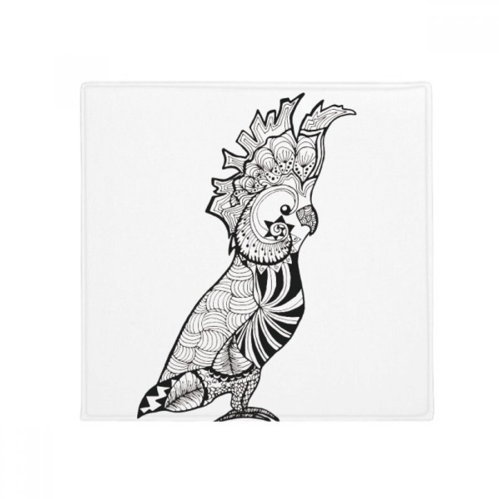 DIYthinker Cute Parred Bird Animal Portrait Sketch Anti-Slip Floor Pet Mat Square Home Kitchen Door 80Cm Gift