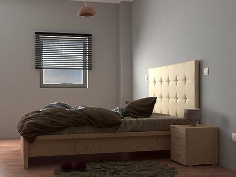 LA WEB DEL COLCHON Cabecero de Cama tapizado Acolchado Corfú (Cama 105) 115 x