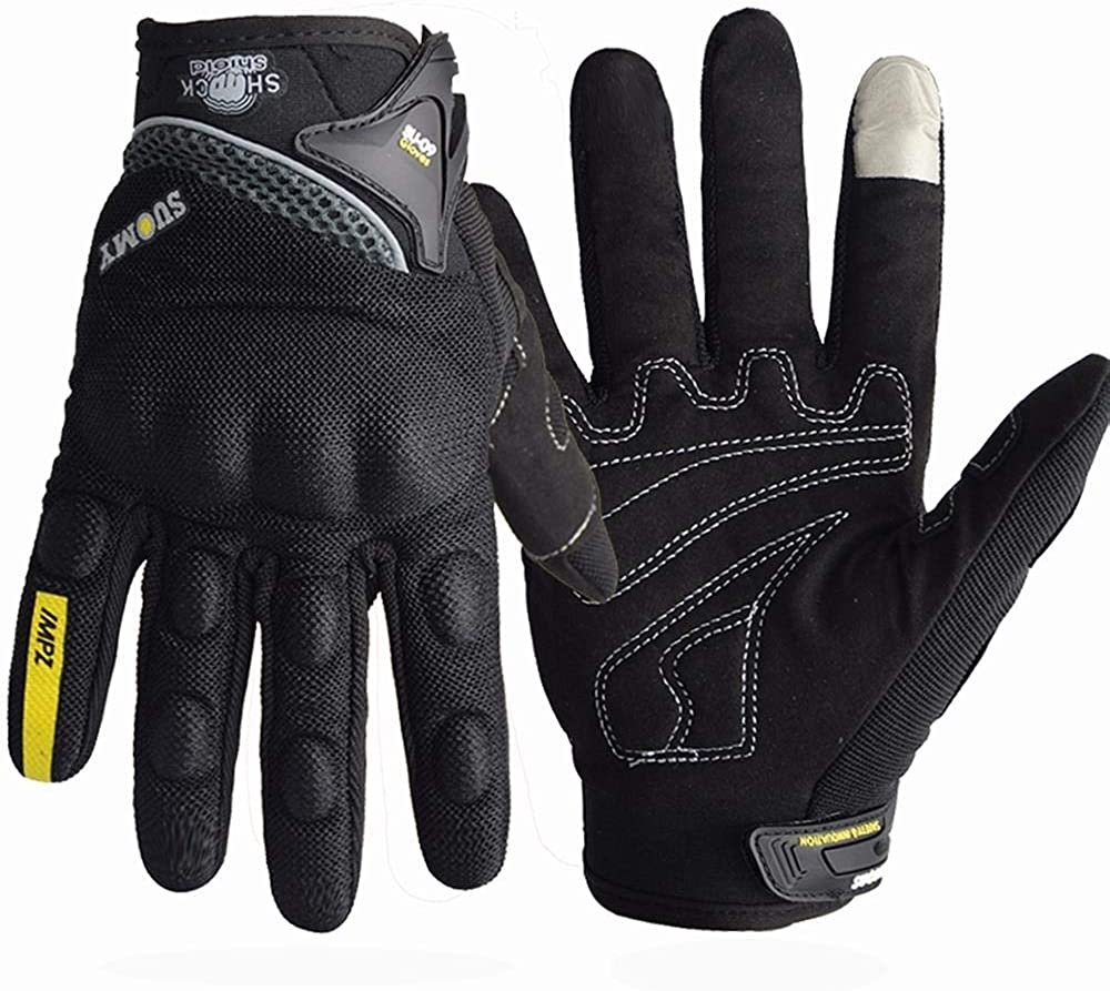 Rouoi Winter Touch Screen Gloves Non-Slip Outdoor Sports Long Finger Riding Gloves