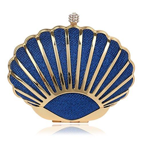 Sac de soirée strass crystal embrayage pour femme,Sac de banquet Pour le mariage sac de soirée de soirée de bal-rouge 6x11x15cm(2x4x6inch) Bleu