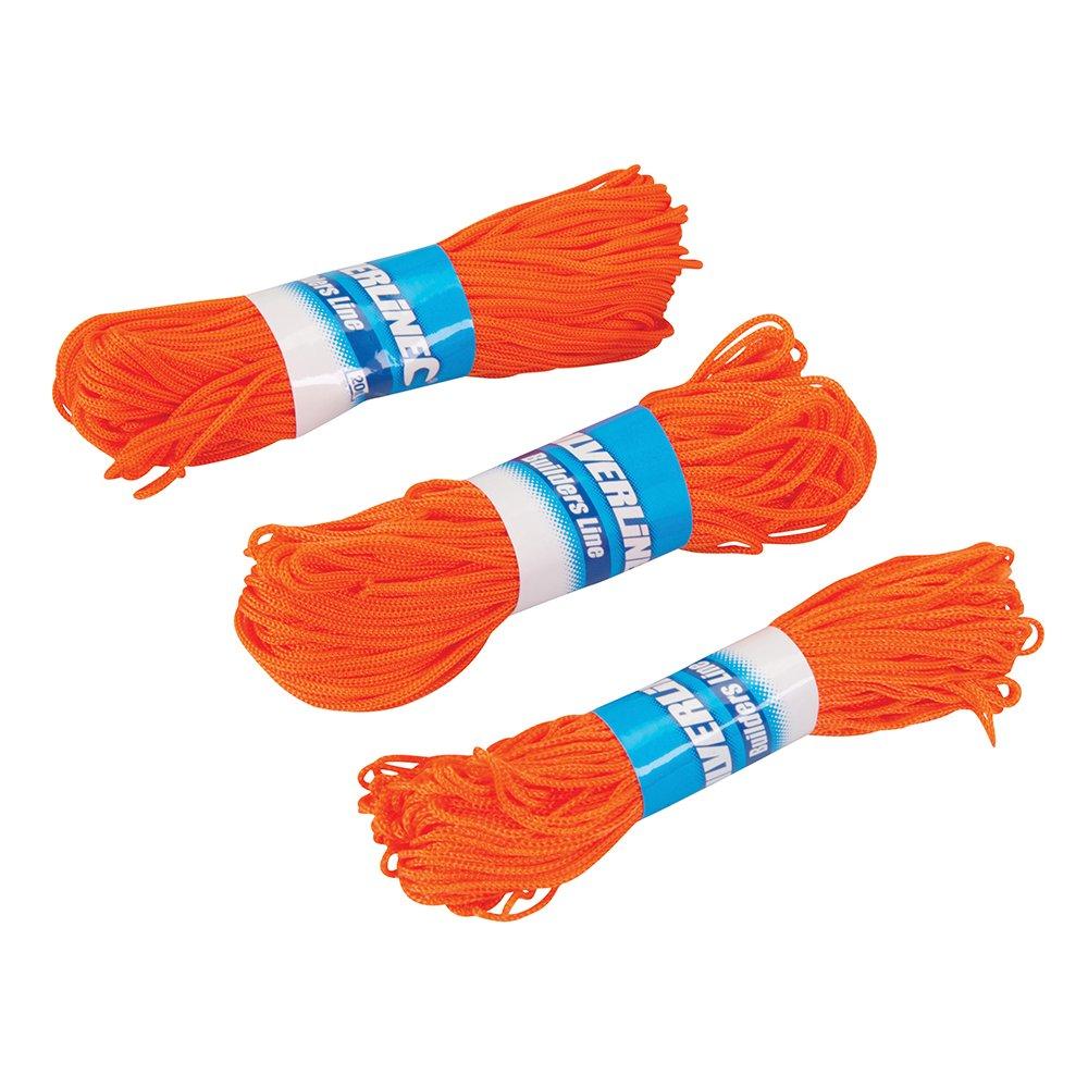 Silverline 250408 Lot de 3 Ficelles pour cordeaux de maç on 20 m