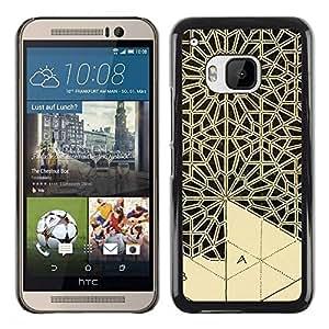 PC/Aluminum Funda Carcasa protectora para HTC One M9 Art Handicraft Carving Lace / JUSTGO PHONE PROTECTOR