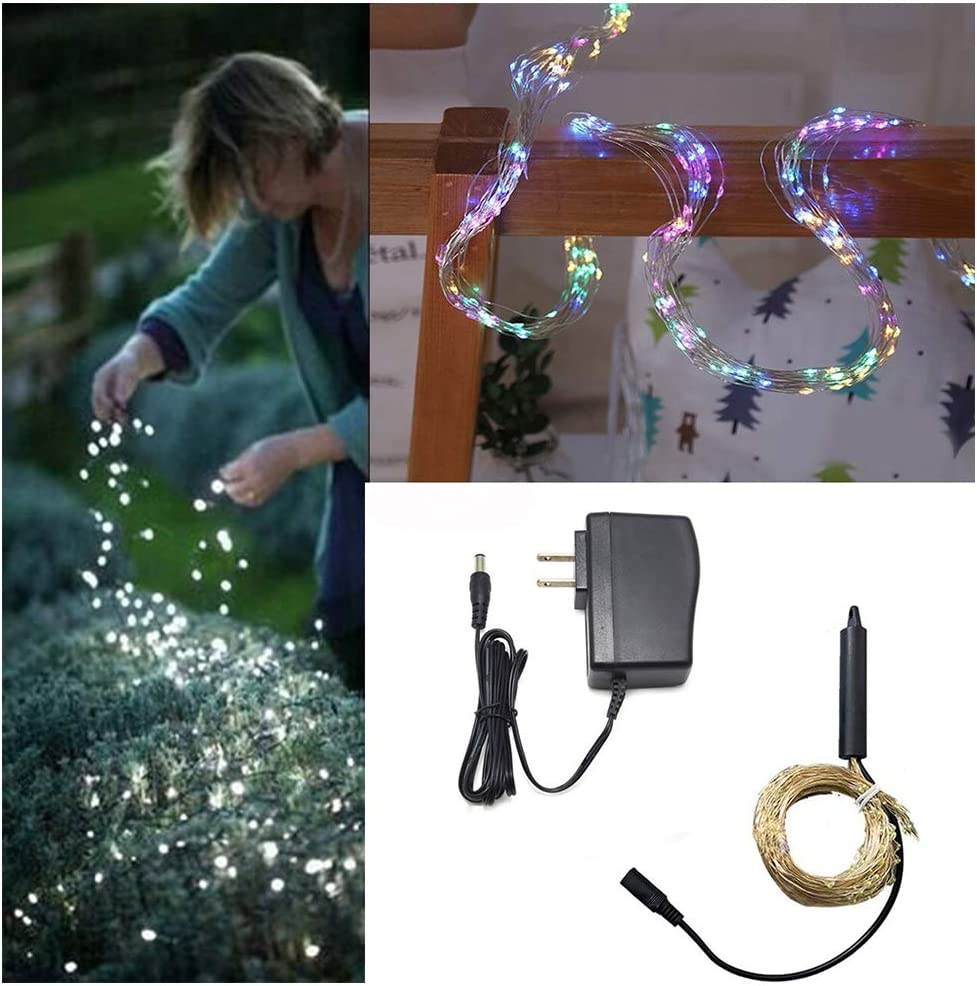 10 Strands 200 LEDs Waterproof Hanging Fairy Lights Battery Operated Leadmall Decorative Vine String Lights 6.56 ft Copper Wire Firefly Lights for Outdoor Garden Christmas Party Decorations