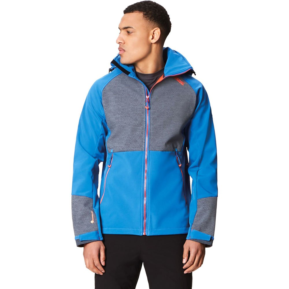 OxfBleu SlGry FR   5XL (Taille Fabricant   5XL) Regatta Pour des hommes Hewitts IV Technical Water Repellent Softshell veste