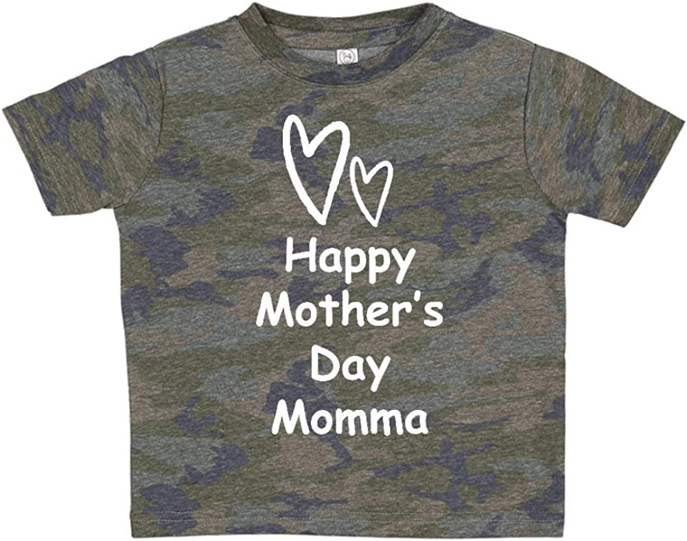 Happy Mothers Day Momma Two Hearts Toddler//Kids Short Sleeve T-Shirt