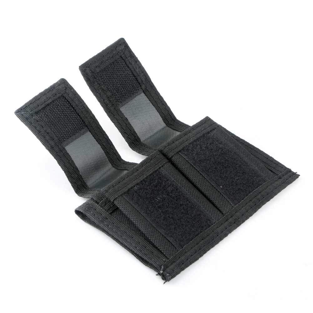 EBILUN Funda Universal para Cargador de Velocidad Doble con Correa Adhesiva de Nailon Color Negro