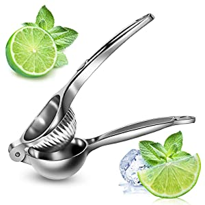 Lemon Squeezer For Fruit & Vegetable Tools, Stainless Steel Press Citrus Juicer - Anti-Corrosive Manual Lime - Heavy Duty - Dishwasher Safe - Makes Juicing Oranges Large Bowl - For Kitchen, Bar