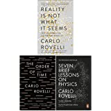 Carlo Rovelli Collection 3 Books Set (Reality Is Not What It Seems, The Order of Time, Seven Brief Lessons on Physics)
