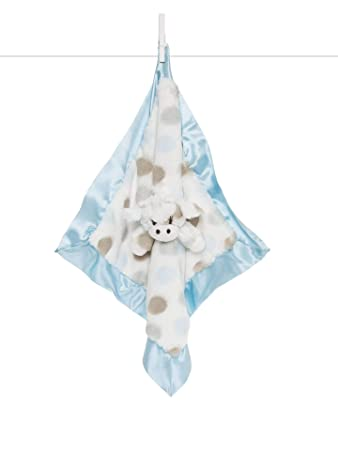fff1a2da20d5 Amazon.com: Little Giraffe Little G Blanky - Animal Security Blanket, Blue:  Baby