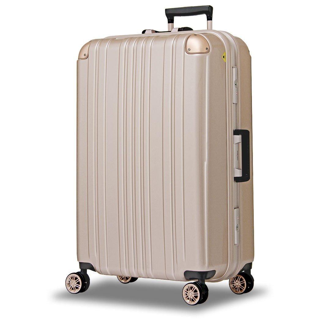 【レジェンドウォーカー】LEGEND WALKER スーツケース アルミフレーム 鏡面ボディ TSAロック 軽量 機内持込~大型 5122 B0798LYYJZ Sサイズ(ファスナー) シャンパンゴールド シャンパンゴールド Sサイズ(ファスナー)