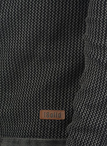Maille solid Tebi Gilet En Cardigan Pour Grosse Veste Black Homme100 Coton Y464qxPp