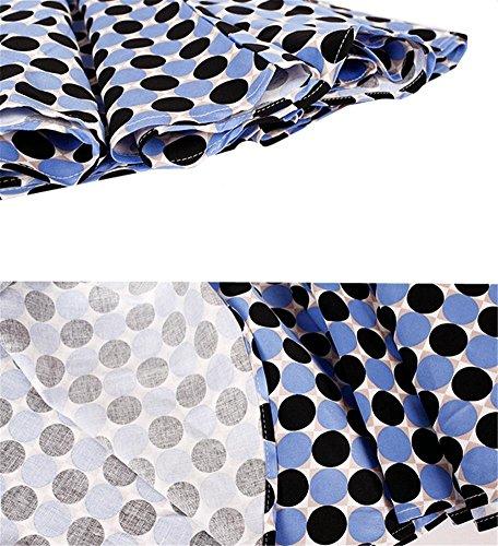 della pannello xl moda spiaggia punto di l nero blue del onda Abito femminile parola blu esterno e posa retrò collare OqFwBw1TZ