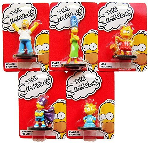 the-simpsons-family-cake-toppers-with-homer-bart-marge-maggie-lisa