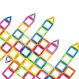 Magnetic Blocks, Newisland 40-Pcs Set Kids Magnet Construction Toys Rainbow Color for Creativity Educational, Come with Container Bag