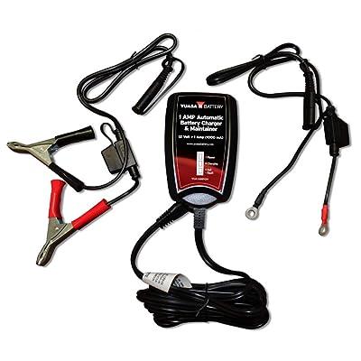 Yuasa YUA1AMPCH 12V 1-Amp Battery Charger 50 State Compliant: Automotive