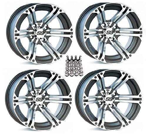 ITP SS212 ATV Wheels/Rims Machined 12″ Honda Rincon Yamaha Rhino Kawasaki Brute Force Suzuki KingQuad