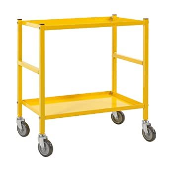 Mesa carrito transportador (Piso carro carrito   mesa carro con 2 estantes, apta para