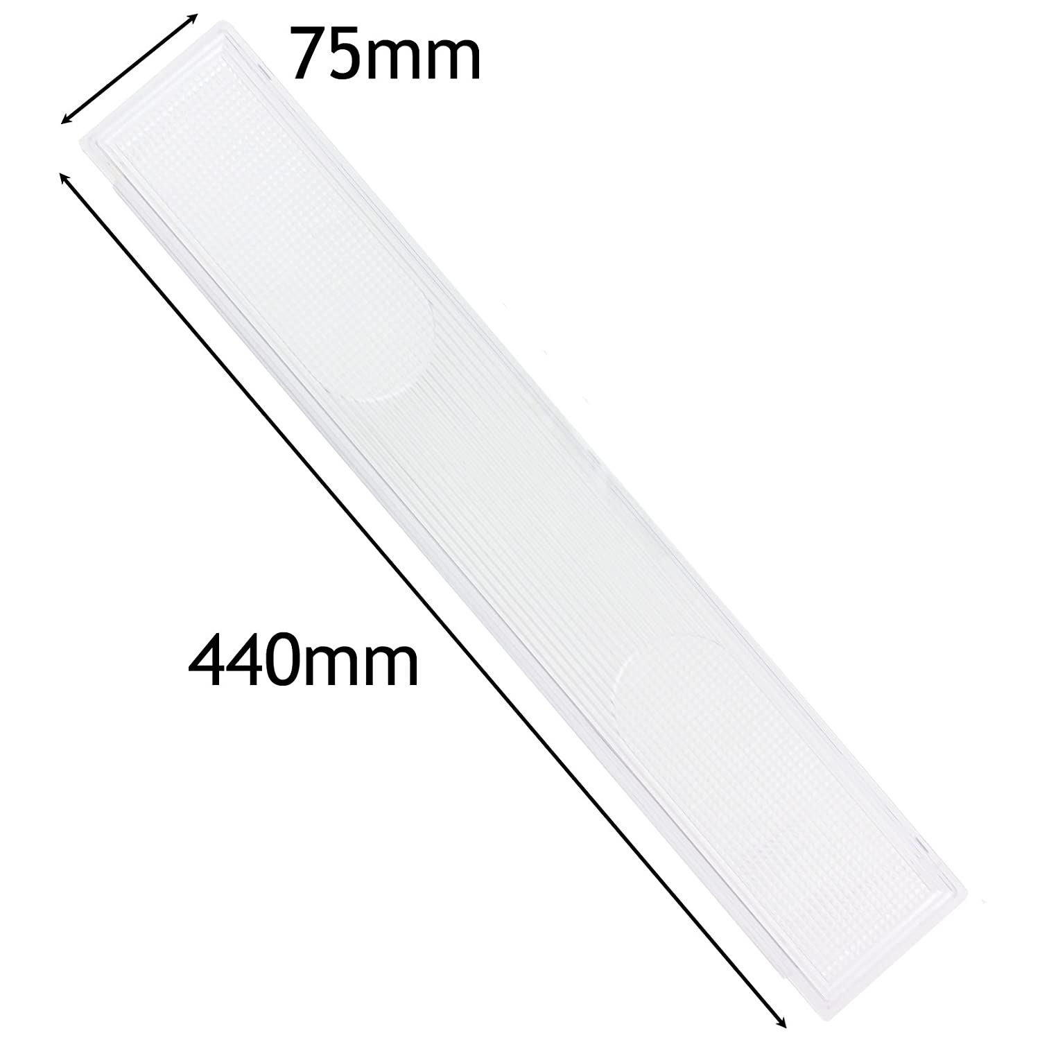 SPARES2GO Cooker Hood Light Diffuser/Lens Cover Plate (440mm x 75mm)